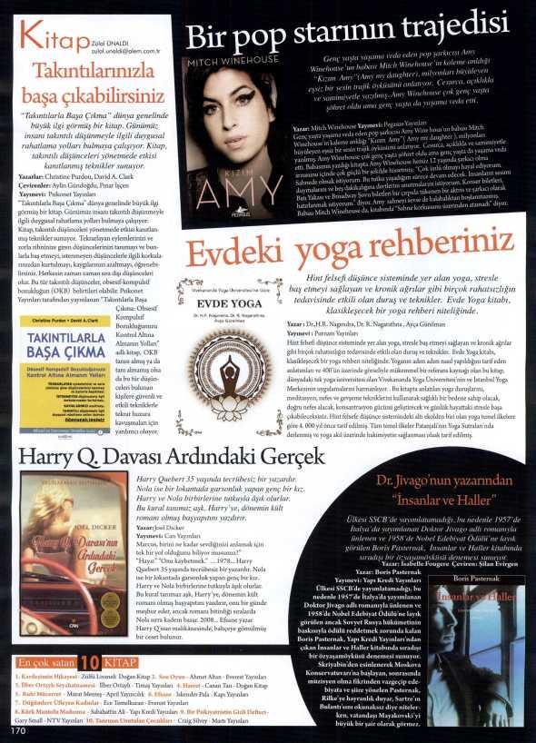 Takıntılarla Başa Çıkma - Alem Dergisi - 14 Ağustos 2013