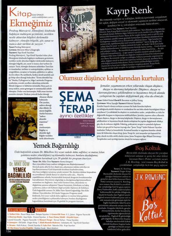 Şema Terapi: Ayırıcı Özellikler - Alem Dergisi - 3 Nisan 2013