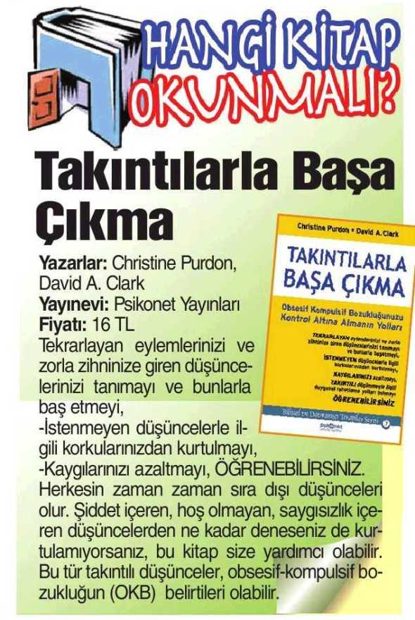 Takıntılarla Başa Çıkma - Güneş Gazetesi - 3 Ağustos 2013
