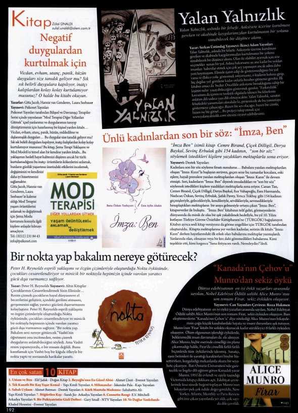 Mod Terapisi: Diğer Yollardan Gitmek - Alem Dergisi - 30 Nisan 2014